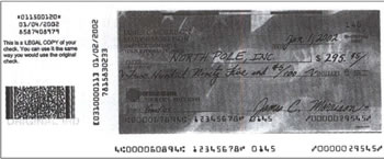 Scan of Check
