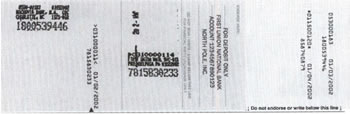 Back of scanned check