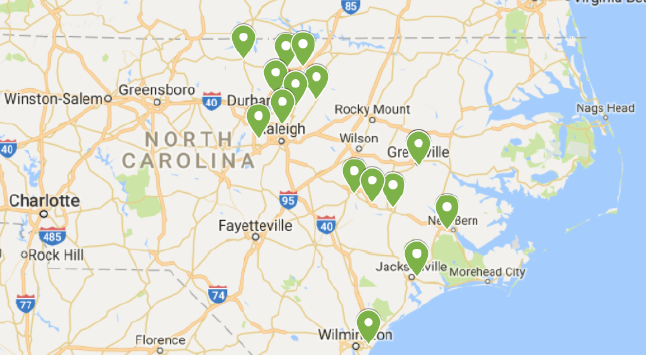 Map of Union Bank locations