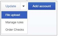 view of how to upload an account