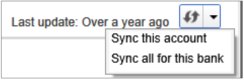 Image of screen to Sync Accounts