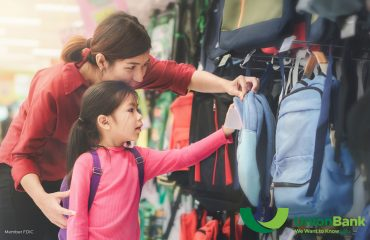 mother & young daughter shopping