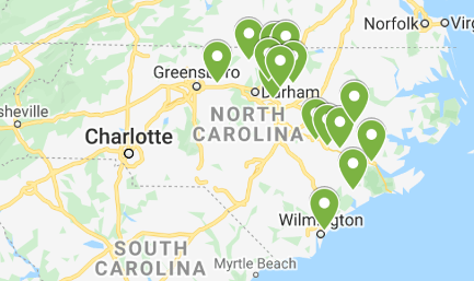 Union Bank Locations in NC on map