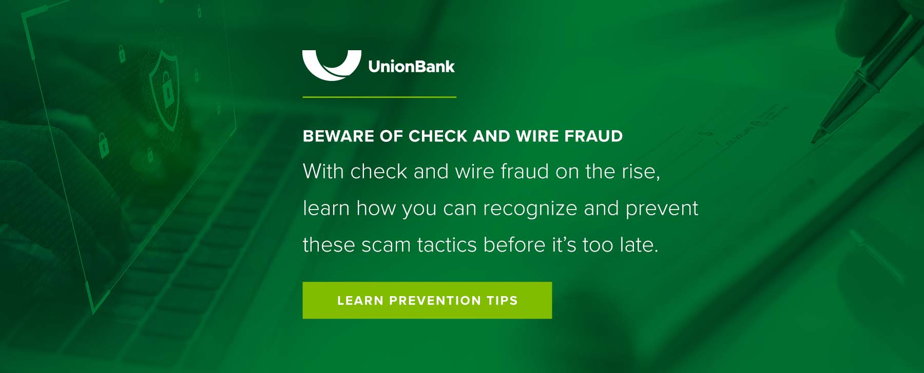 Beware of Check and Wire Fraud